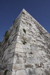 Wildwuchs auf die Piramide Cestia
