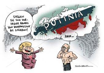 Merkels Handels-Angebot : Das laute Schweigen der Russen