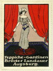 Teppiche und Gardinen  Kaufhaus Brueder Landauer  Augsburg  1913