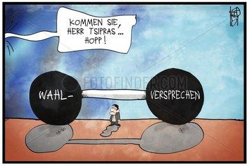 Tsipras Wahlversprechen