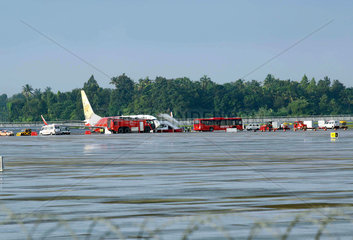 INDIA-KOCHI-PASSENGER AIRCRAFT-RUNWAY SKID OFF