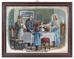 Tischgebet  religioeses Wandbild  1898