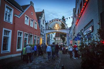 Illumination der Warendorfer Innenstadt zu Mariae Himmelfahrt