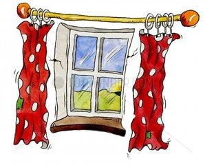 Fenster Vorhang