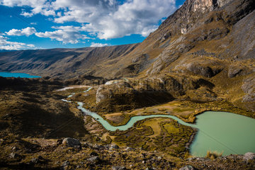 PERU  CUSCO REGION  TREK IN AUSANGATE REGION VIA CONDOR PASS AND JARIHUANACO PASS.