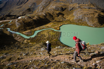 PERU  CUSCO REGION  TREK IN AUSANGATE REGION VIA CONDOR PASS AND JARIHUANACO PASS.