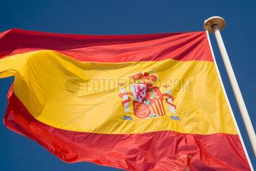 Frankreich  wehende spanische Nationalflagge