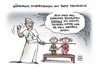 Erziehung mit Schlaegen : Papst irritiert mit kruden Thesen