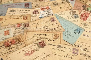 internationale Postkarten  19. Jahrhundert  1881 bis 1900