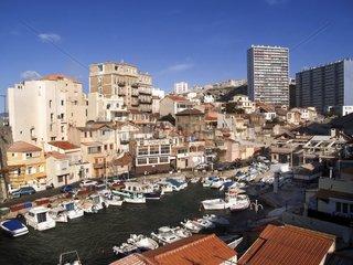 Le vallon des Auffes  Hafen in Marseille im 7. Arrondissement