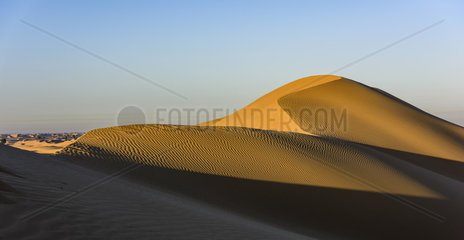 Beautiful dunes of Dubai Desert