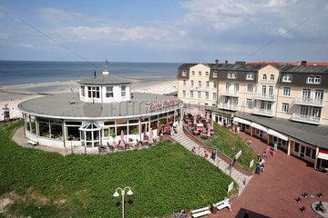 Wangerooge  Deutschland  Cafe Pudding an der Strandpromenade