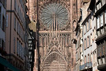 Strassburg  Frankreich  die Fassade des Strassburger Muensters