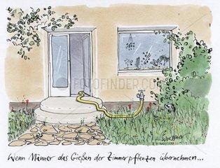 Garten Hauseingang Gartenschlauch