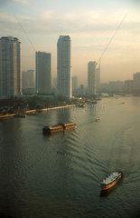 Thailand  Bangkok  Skyline  Fluss Chao Phraya  Menam