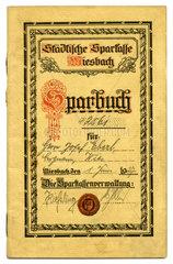 altes Sparbuch  Miesbach  1927