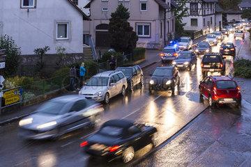 Verkehrsunfall an einer Strassenkreuzung