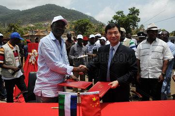 SIERRA LEONE-CHINA-AID-ROAD-HANDOVER