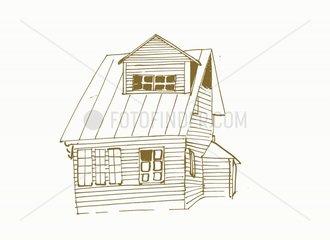 Haus Holzhaus Russisch