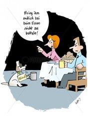 Betteln beim Essen
