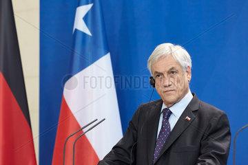 Berlin  Deutschland - Der Praesident der Republik Chile  Sebastian Pinera.