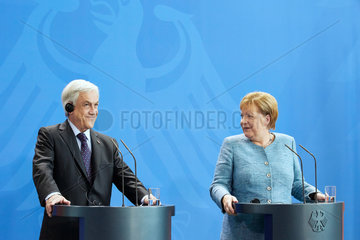 Berlin  Deutschland - Bundeskanzlerin Angela Merkel und der Praesident der Republik Chile  Sebastian Pinera.