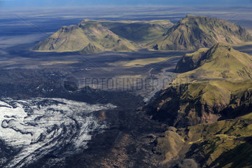Krossarjokull Glacier  Myrdalsjokull Ice cap  Iceland