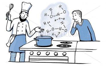 Mit Wasser kochen
