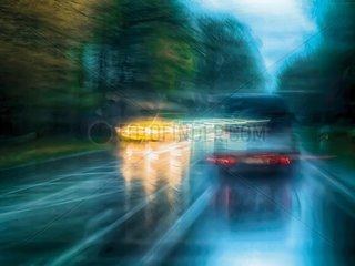 Verkehr im Regen 2