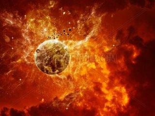 Verbrannter Planet