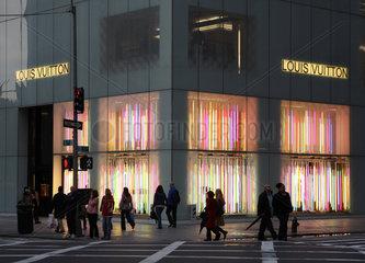 New York City  USA  Louis Vuitton-Geschaeft