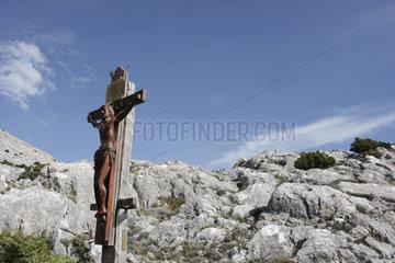 Andachtstelle in die Berge