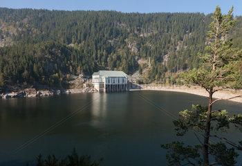 Urbeis  Frankreich  das Pumpspeicherkraftwerk am Lac Noir