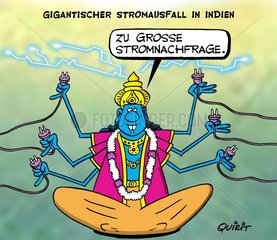 Stromausfall in Indien