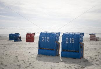 Strand auf der Nordseeinsel Borkum