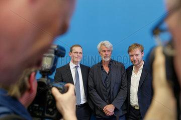 Berlin  Deutschland  Michael Mueller  Chris Decron und Tim Renner