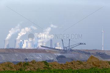Braunkohletagebau Garzweiler  Nordrhein-Westfalen  Deutschland  Europa
