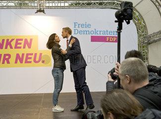 Wahlkampfauftritt von Christian Lindner  FDP  und Katja Suding