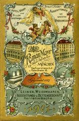 Roman Mayr  Kgl. Bayerischer Hoflieferant  Muenchen  1901