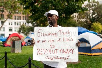 Washington D.C.  USA  Besetzung des McPherson Square der Occupy-Bewegung