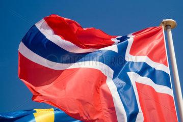 Frankreich  wehende norwegische Nationalflagge