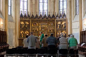 Tribsees  Deutschland  katholischer Gottesdienst in der St. Thomas-Kirche