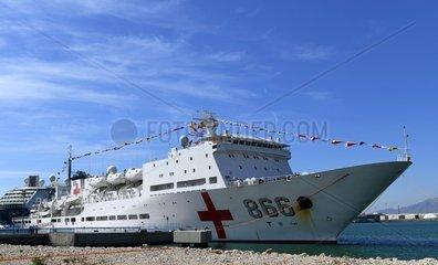 SPAIN-MALAGA-CHINA-PEACE ARK HOSPITAL SHIP