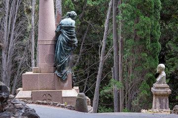 Genua  Italien  Grabskulpturen auf dem Monumentalfriedhof Staglieno