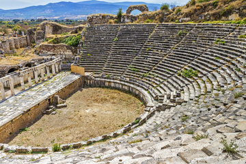 Amphitheater Of Aphrodisias  Anatolia Turkey