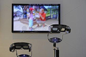 3D Brillen und Fernseher auf der Internationalen Funkausstellung IFA 2011  Berlin  Deutschland Europa