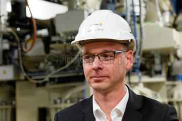 Jaenschwalde  Deutschland  Gunnar Langner  Vattenfall Projektleiter Trockenbraunkohle-Pilotanlage