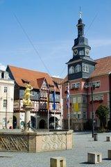 Marktplatz Eisenach mit Stadtschloss und Rathaus