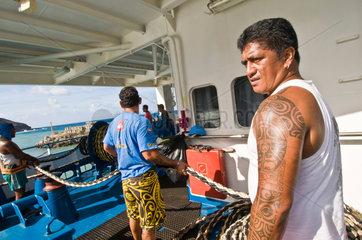 Franzoesisch-Polynesien  Mitarbeiter der Aranui 3