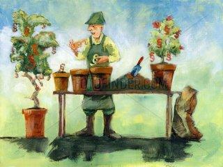 Bonsai Gaertner Toepfe- Serie Paragraphen
